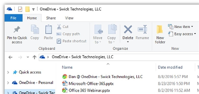 OneDrive for your Business file sharing