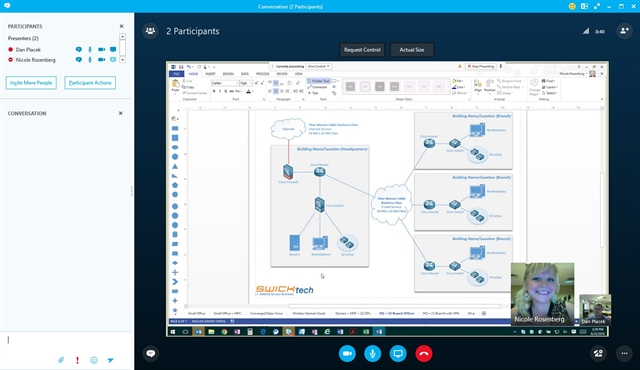 Skype for Business Inter Office Communication