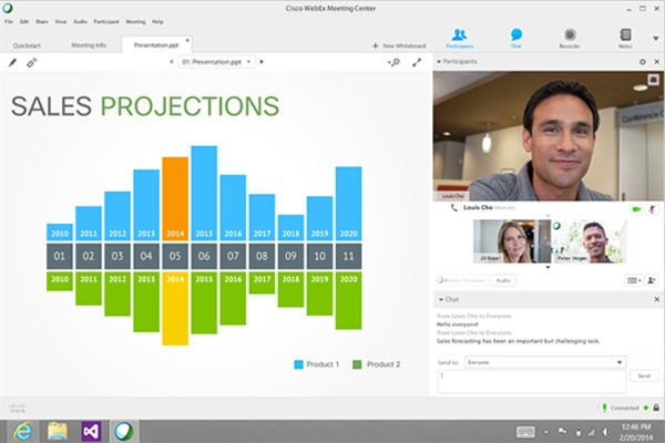 Cisco Webex video conferencing